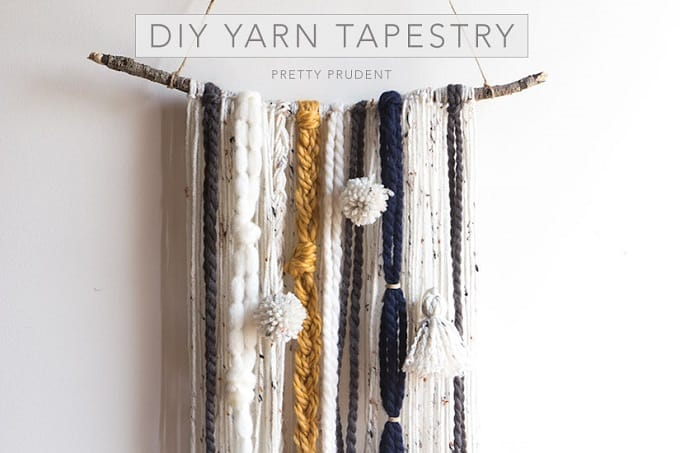 DIY yarn tapestry