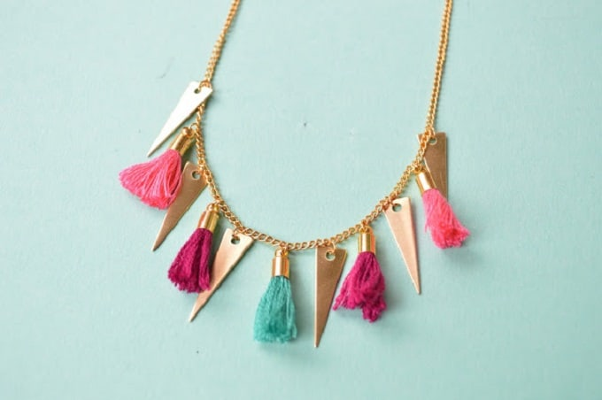 tassel and gold adornment necklace