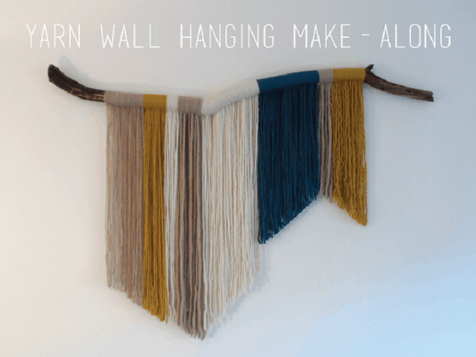 43 inspiration diy woven wall hangings for your home for Yarn wall hanging