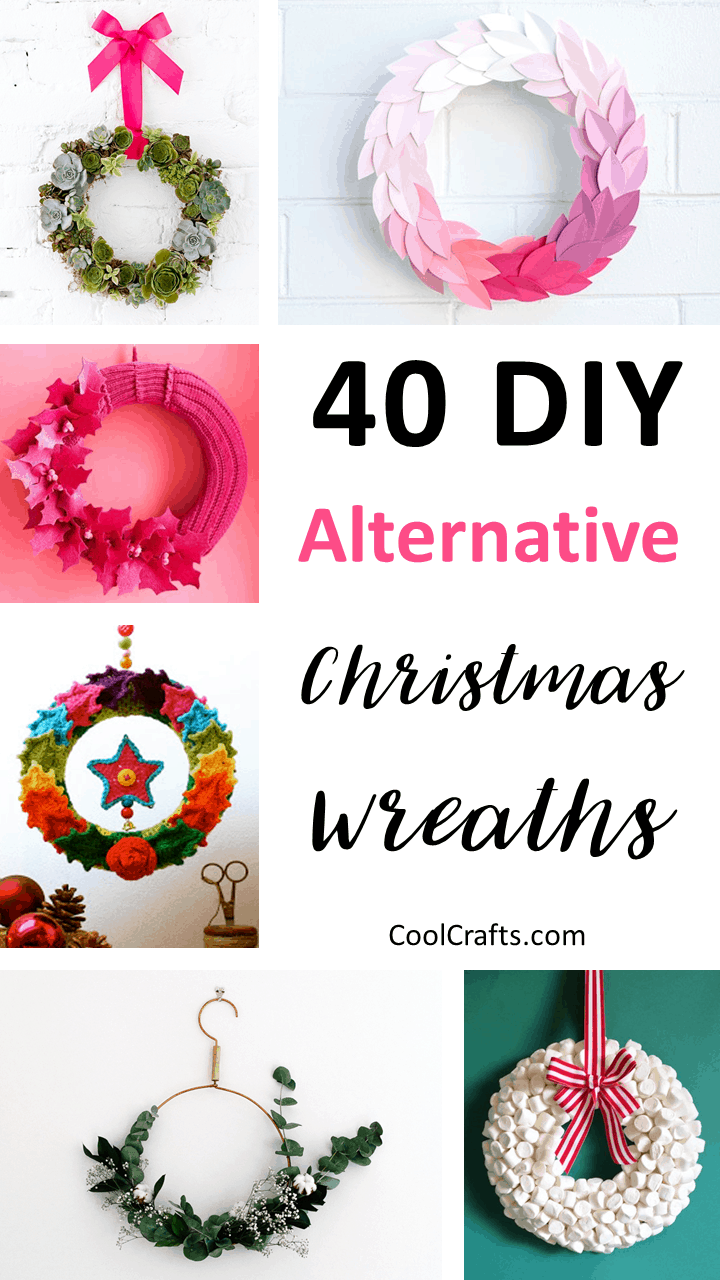 40 Festive Christmas Wreath Ideas You Can Try This Year. | Coolcrafts.com