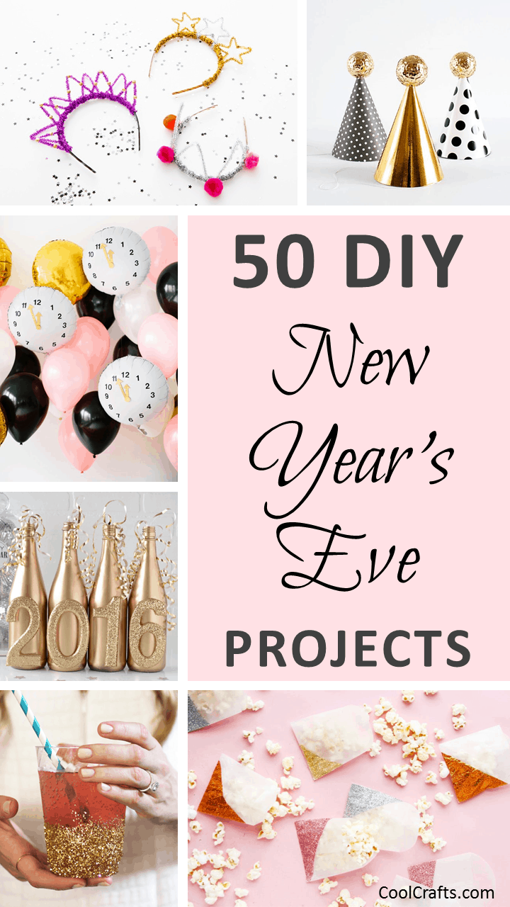 50 New Year's Eve Craft Decoration Ideas to Bring in The New Year. | Ideahacks.com