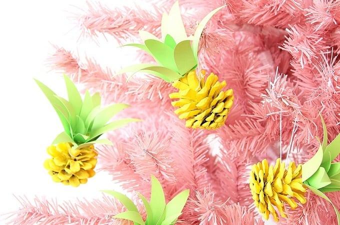 pineapple pinecone ornaments