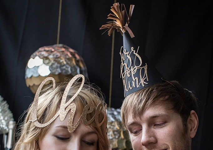 DIY paper party hats