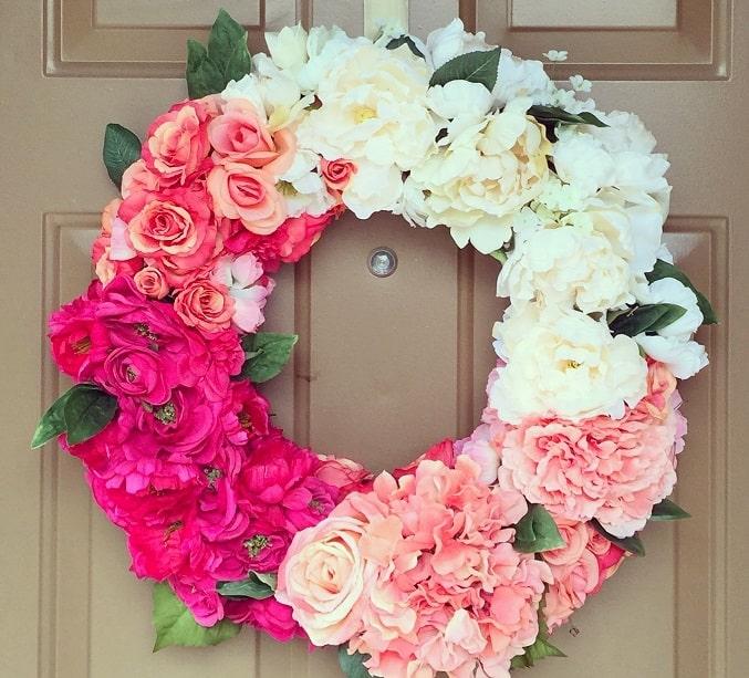 floral DIY wreath