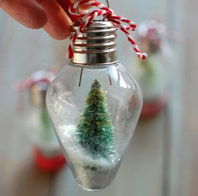 mini snow globe ornament