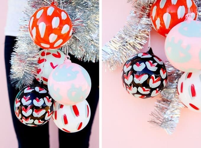abstract inspired baubles