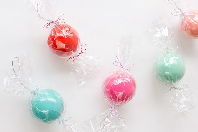 candy ornament favors