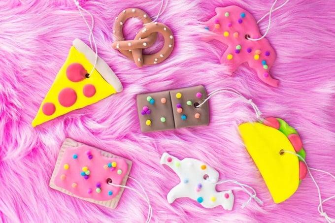 junk food ornaments