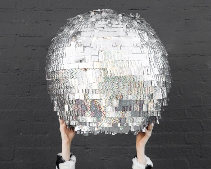 how to make a paper disco ball