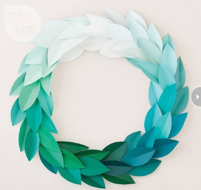 paint chip wreath
