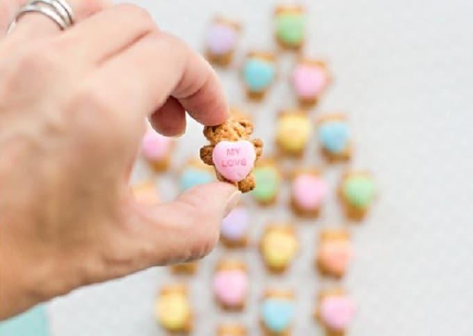 teddy bear graham cookie hearts