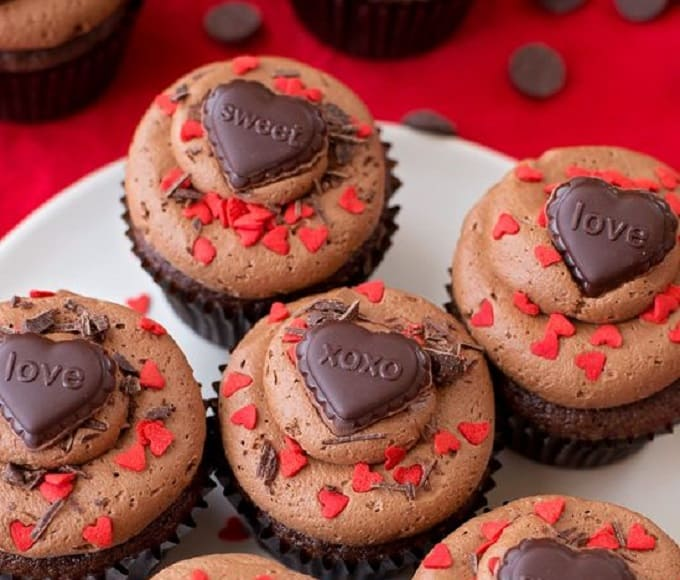 chocolate sweetheart cookies