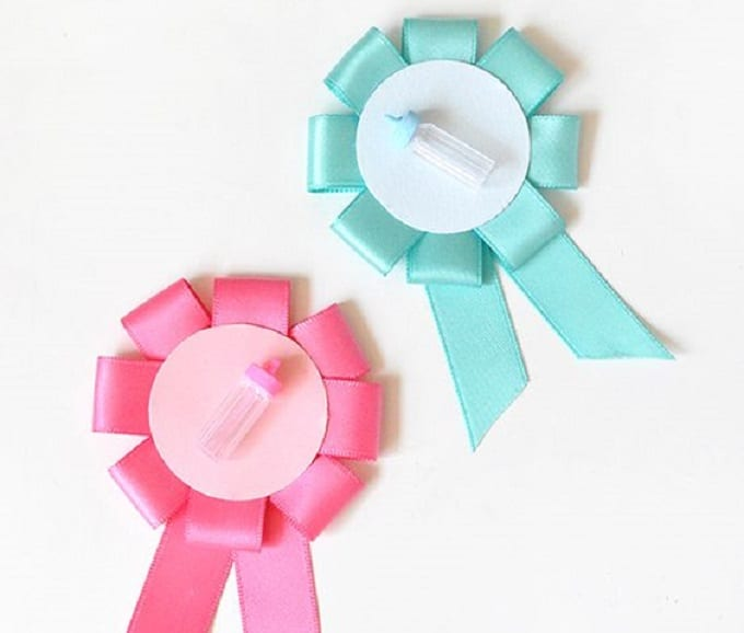 gender reveal ribbons