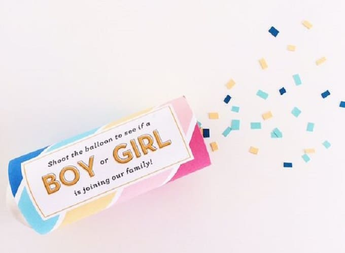 gender reveal confetti cannon