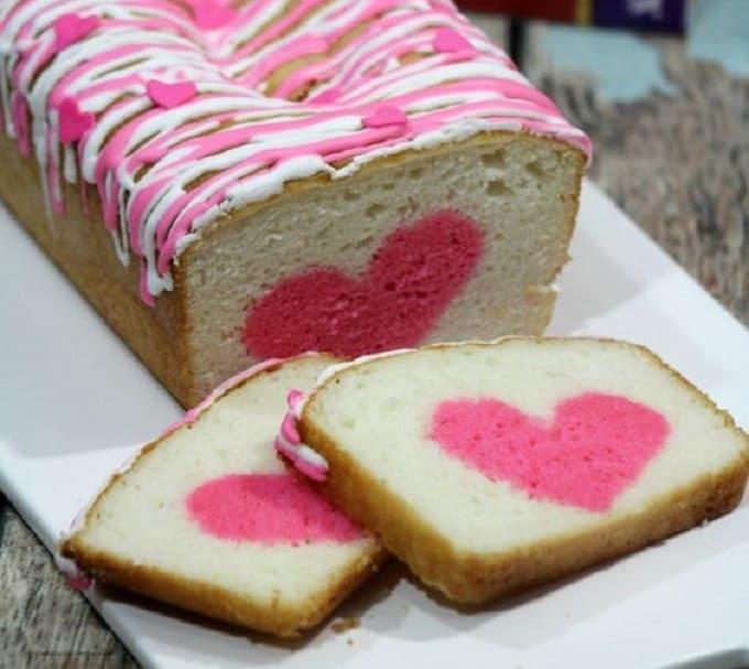 Valentine's Day dessert hidden heart cake