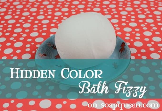 DIY gender reveal bath fizzes