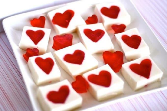 Valentine's Day jello hearts