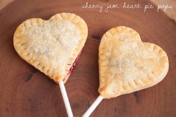 heart pie pops