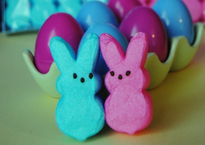 gender reveal bunny marshmallows