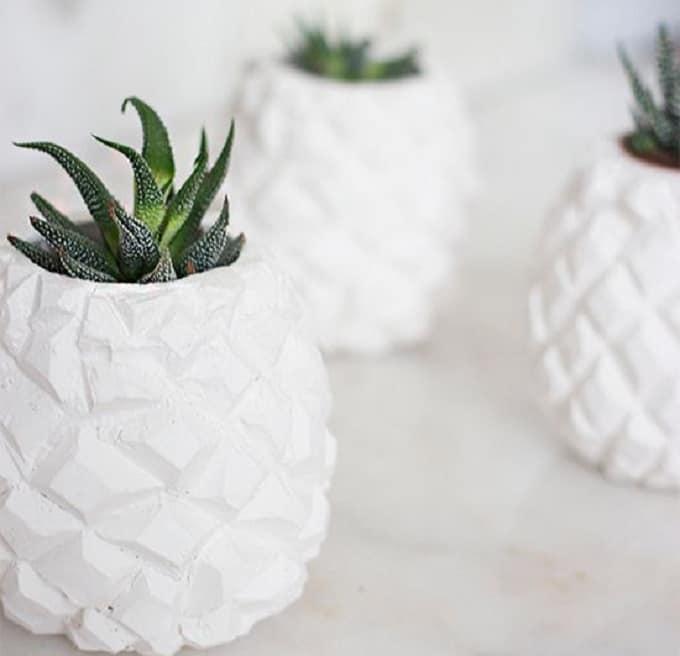 DIY textured flower vase