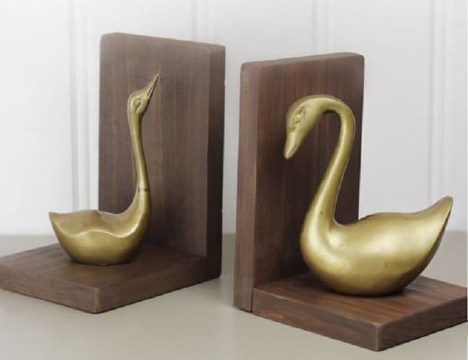 gold bookends