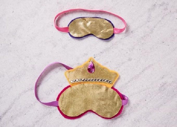 DIY princess inspired sleep masks