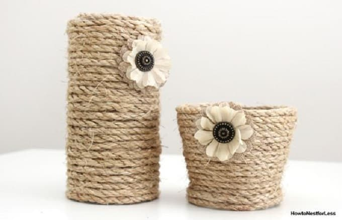 diy rope vase centerpiece