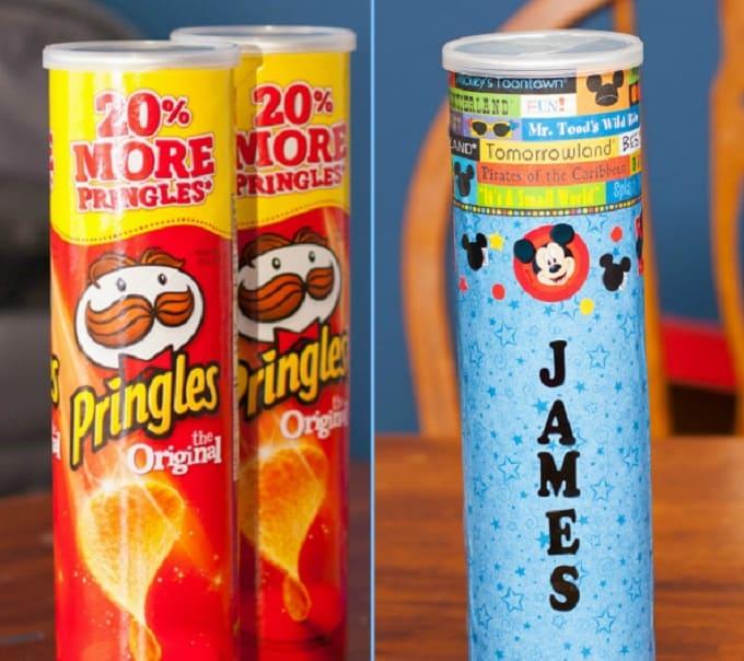 Pringles can coin bank