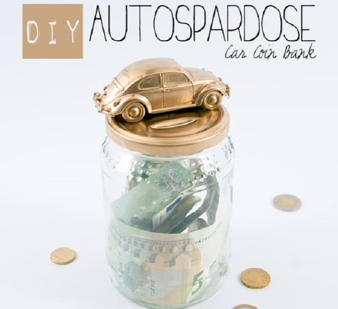 cool car-inspired coin bank