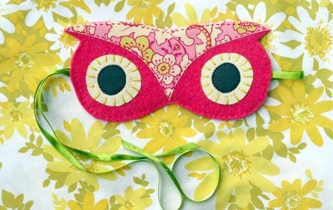DIY owl sleep mask