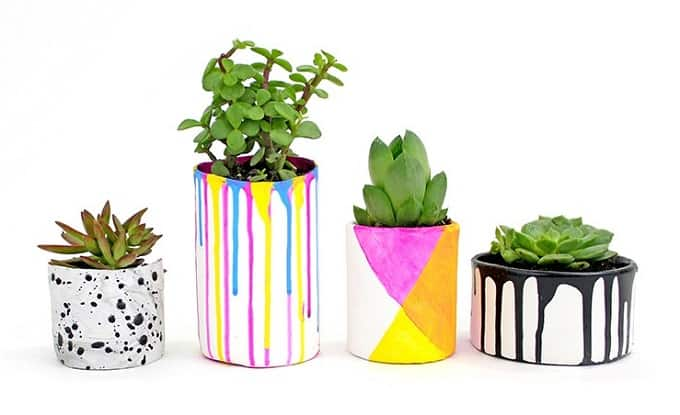 paint drip' vases