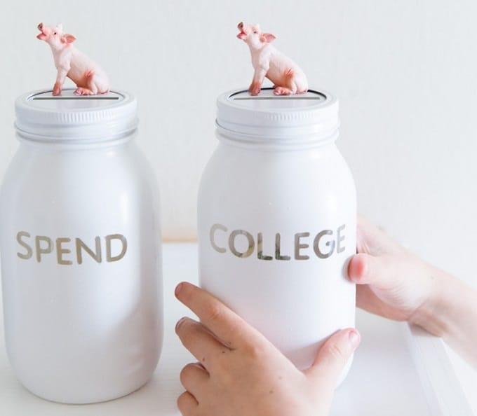 coin jar piggy bank