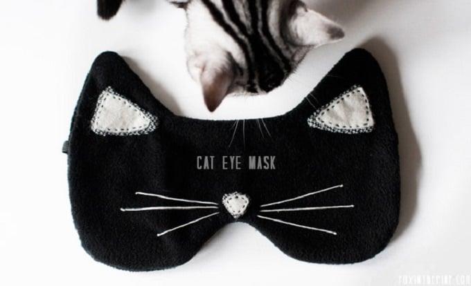 DIY cat inspired sleep mask