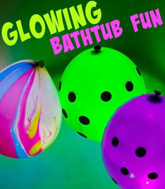 Glowing Bathtub Fun