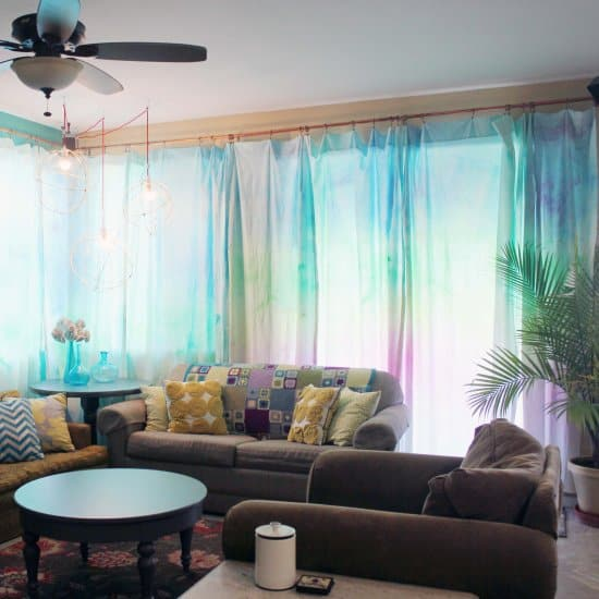DIY Watercolor Curtains