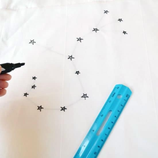 DIY Constellation Curtains