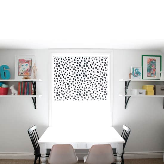 DIY Dalmation Print Roller Shade