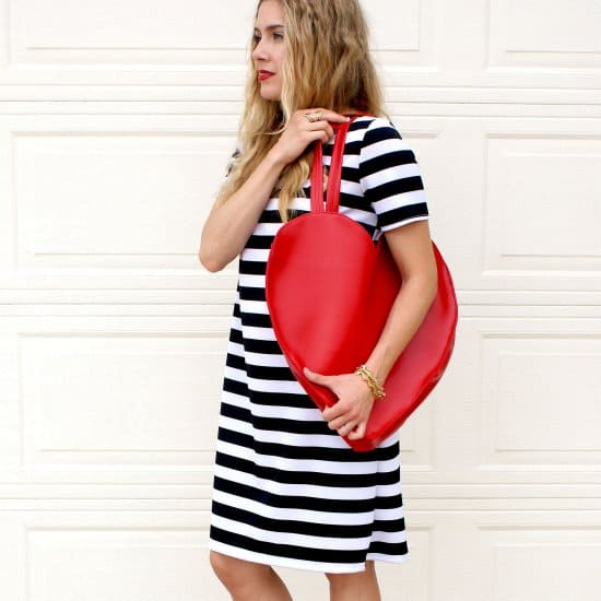 Kate Spade inspired Heart Tote Look