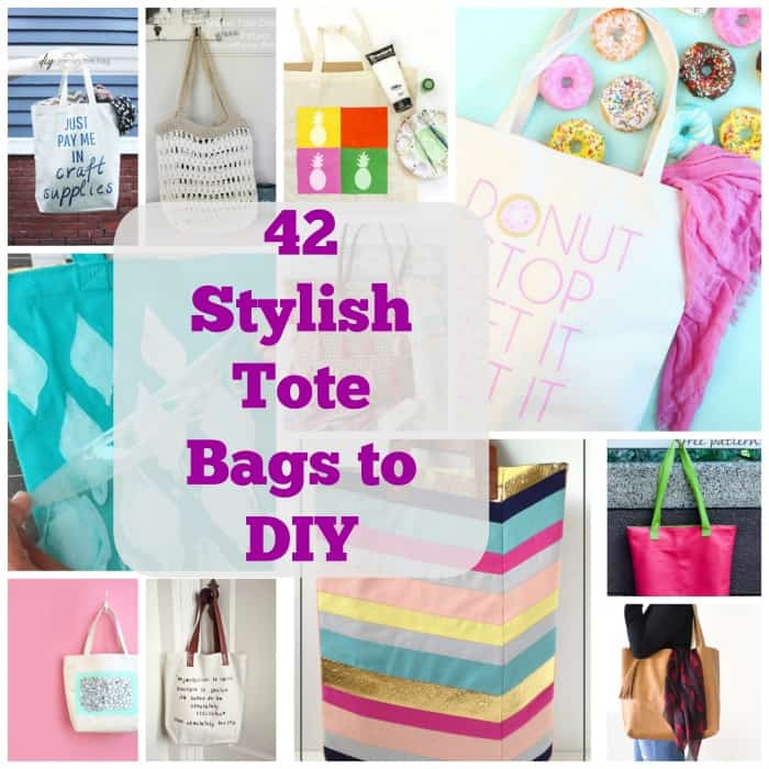 42 Stylish DIY Tote Bag Patterns | Coolcrafts.com
