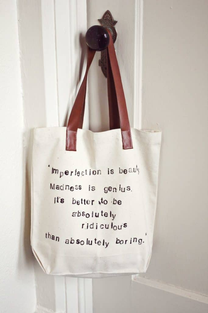 DIY Quote Tote Bag