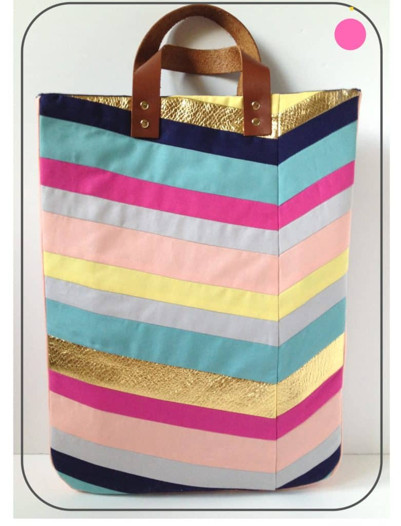 DIY Inspired Chevron Tote Bag