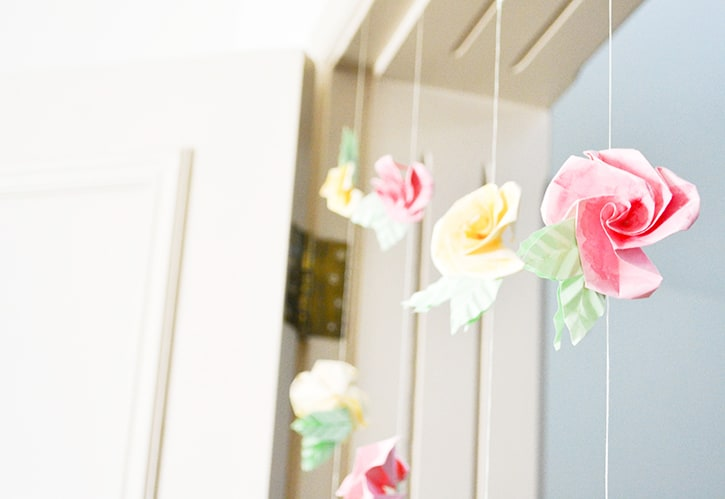 DIY Origami Flower Curtains