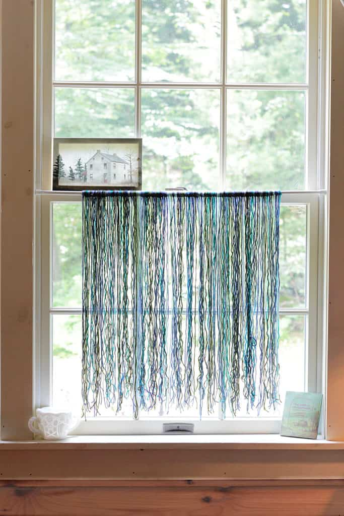 Scrap Yarn Curtain