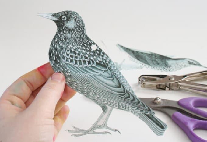 shrinky dink jewelry bird earrings