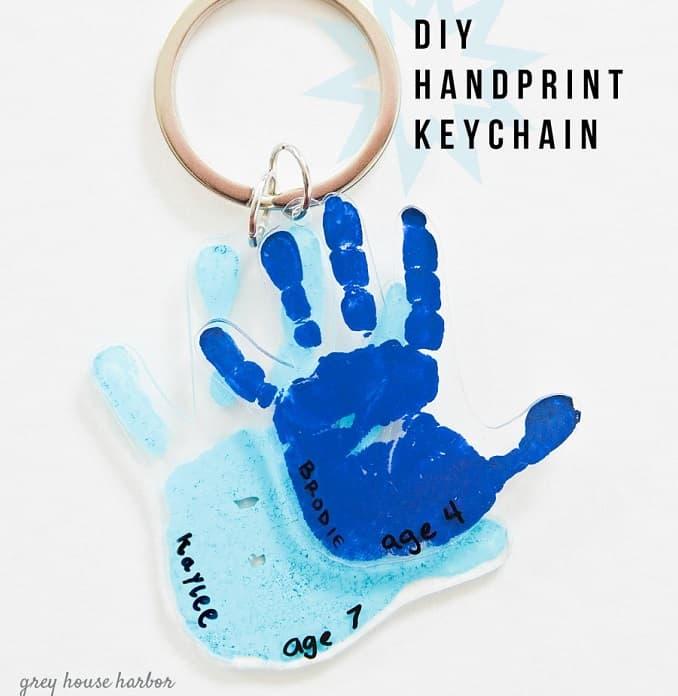 DIY shrink plastic keychain