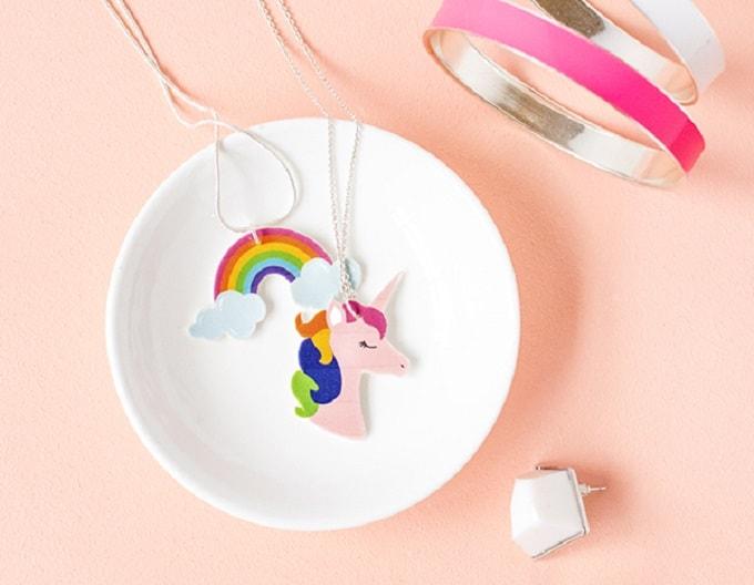 DIY shrinky dink pendants