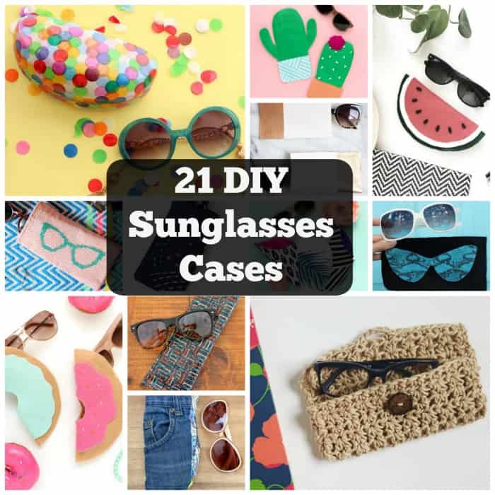 21 Fun & Cool DIY Sunglasses Cases