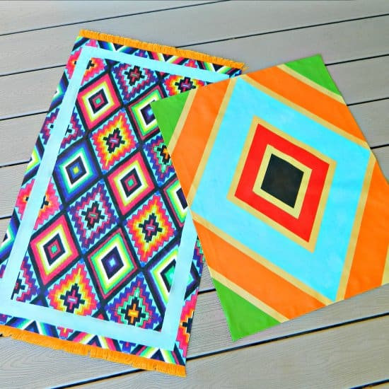 Painted Fabric Canvas Rugs