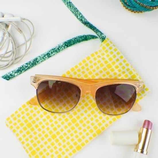 5 Minute DIY Quick Sew Sunglasses Case