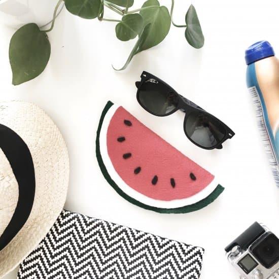 DIY Watermelon Sunglass Case